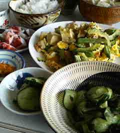 新鮮きゅうりの酢物&チャンプルー