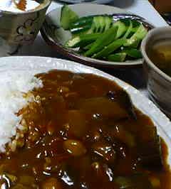 お豆と夏野菜のカレー